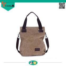 2015 latest arrival large capacity simple colorful style canvas bag high quality with wide strap nice design