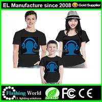 2015 Hot selling light up custom led t shirt