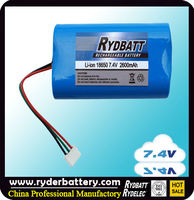 7.2v battery pack Li-ion rechargeable battery pack
