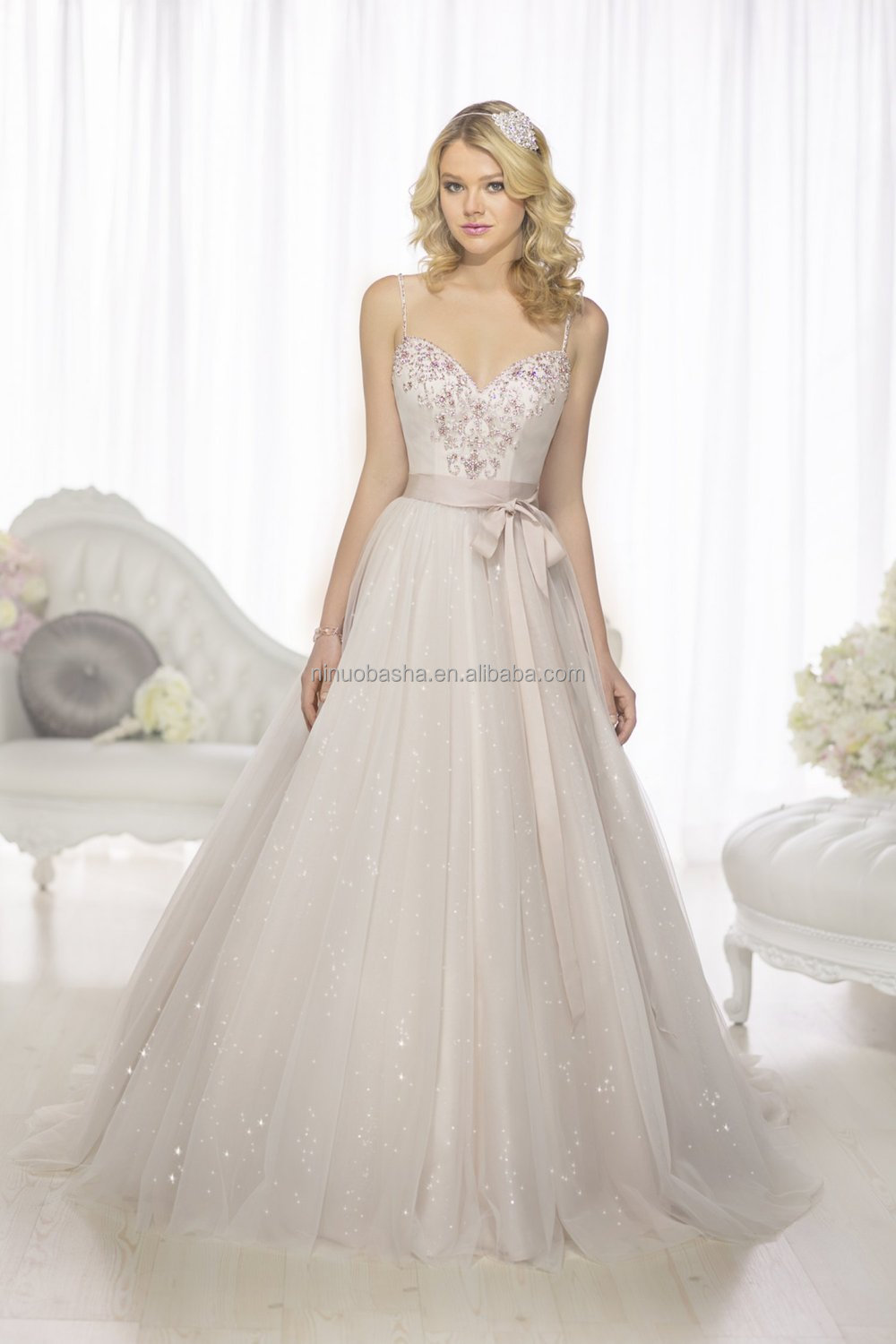 Wholesale 2015 chic a line wedding dress with sweetheart for Sweetheart wedding dress with straps