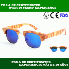 wooden sunglasses aviator hot sell in los angeles with latested fashion and design BM1012-C1