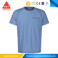 China supplier wholesale factory price high quality mens light blue t-shirt wide neck men --7 years alibaba experience