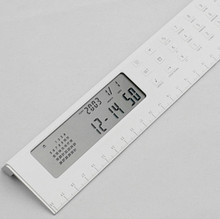 Hot selling new promotional funny novelty world time function calendar alarm clock ruler calculator