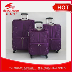 best cheap china luggage with nylon fabric 4 wheels made in china factory