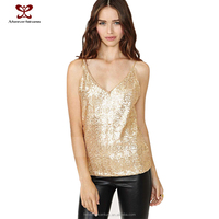 2015 Women Fashion Dress Apparel For Ladies Pure Color T Shirt Gold Sequines Sexy Slip Wear Garment Orders Online Shopping