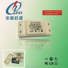 High Quality TUV UL 9w 350mA non-dimmable led driver constant current high efficiency led driver