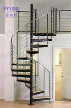 Modern spiral staircase with stainless steel or carbon steel