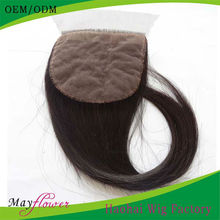 Natural colour Malaysian virgin hair colour Silk Base Top Closure with baby hair lace front frontals Silk injected Closure