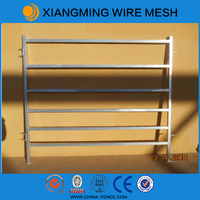 Cheap round steel tube welded fence panels
