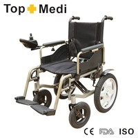 Rehabilitation therapy China topmedi foldable cheap power wheelchair for handicapped price of wheelchair philippines