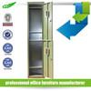 Luoyang Shuangbin Factory KD 2 tier green military steel metal locker