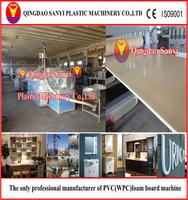 WPC/PVC plastic recycled construction/door/floor/furniture/advertising/decoration crust foam board/sheet machine/extruder