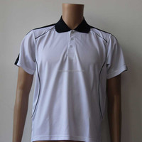 sports wear fabric 100% polyester white fast dry polo shirt polo t shirt china factory