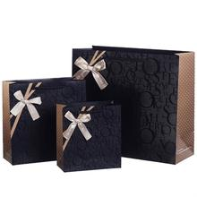 Different Size Leisure Cloth Shopping Customized Luxury Kraft Paper Bag