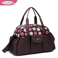 mummy and baby diaper bag& Fresh Printing Large Capacity Baby Carry Bag