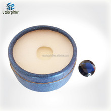 U color made Customized round jewelry box for beads