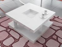 White High Gloss office tea table coffee table