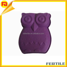 Cute owl animal silicone cake molds,custom design fashion colorful big size cake mold