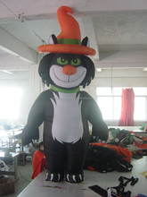 carnival party inflatable black cat models for Halloween decoration