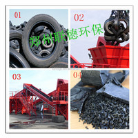 Non-pollution High Profitable Double Shaft Tyre Shredder for Waste Tire Recycling
