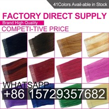 ZSY 2014 hot sale high quality remy tape hair extension