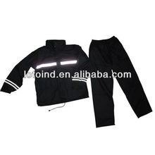 high quality reflective tape motorcycle rainsuit