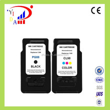 China factory direct sales remanufactured ink cartridge for Canon PG-88 CL-98 for Canon E500 E600