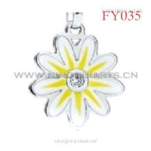 wholesale flower enamel pendant with lobster clasp accessory