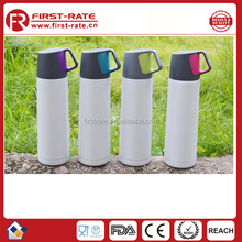 New design vacuum insulated stainless steel water bottle with drink cup