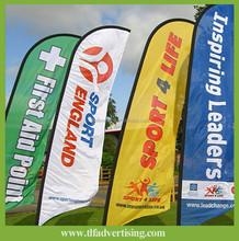 High quality Cheap Flying Style Wholesales Single/Double Sided Beach Flag,Teardrop Flag,Feather Flag