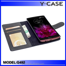 Perfect fit wallet style leather case with card pockets for LG G4, for LG G4 leather case ,Customized is acceptable