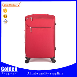 popular design suitcase trolley with decoration button trolley luggage