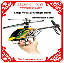 2.4g 4ch rc helicopter v912 radio control wl toys with gyro single blade