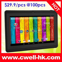 USD29.9/pc Hot sell China Brand Table PC 7 inch Dual Core Android 4.4 Kitkat Cheap Tablet PC Skype Video Call