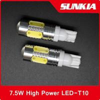 W5W 194 168 bulb lamp 12v 5w T10 LED 7.5W High Power Car led Auto Wedge Side Lights Reverse Parking Bulb Backup Lamp