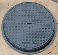 EN124 Heavy duty round double seal manhole cover and frame