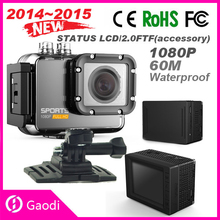 Hot Sale!! 60M Waterproof 2.0'' Inch Action Full HD 1080p Sports Camera DVR With Wifi