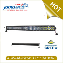 Juntu 12v automobile 40 inch 240w curve led light bar for Jeep wrangler JT-2700C-240W