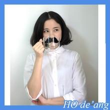 Hogift promoção barato por atacado engraçado copo de vidro / casal copo