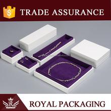Custom Elegant White Wooden Jewelry Box