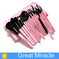23pcs wooden handle eyeshadow/concealer makeup brush set for blush makeup brushes
