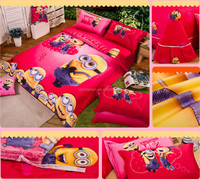 TF-0215083029 The Minions pattern cartoon coral fleece flannel fabric super soft air-condition blankets