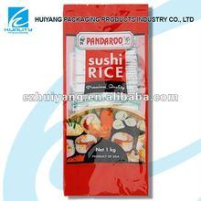 La impresión de plástico de alimentos empaquetados bolsa de arroz