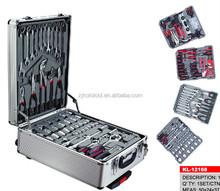 OEM toolbox 186 pieces tool set aluminum case kraft set germany automotive tools