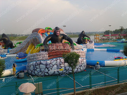 jungle water paradise giant slide for adults and children