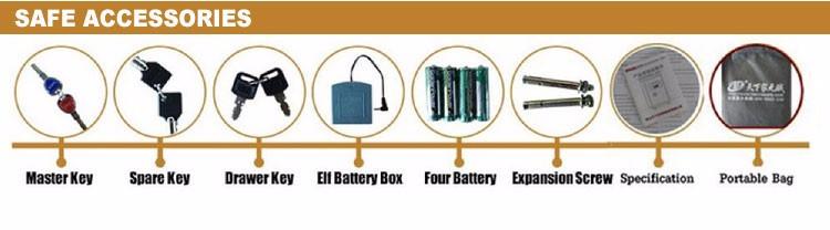 Good-selling burglarproof digital key home deposit hidden wall safe box with low price