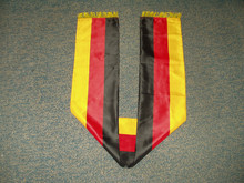 Cheap polyester soccer scarf for football fans for promotion and gifts