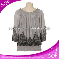 China casual round lady crop top selling 2013 latest design in Autumn