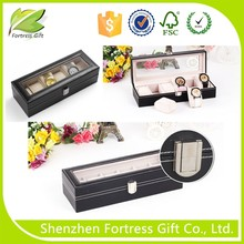 luxury leather cover cardboard watch box
