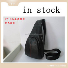 new Shoulder Men Chest Bag Leisure mans leather handbags in stock